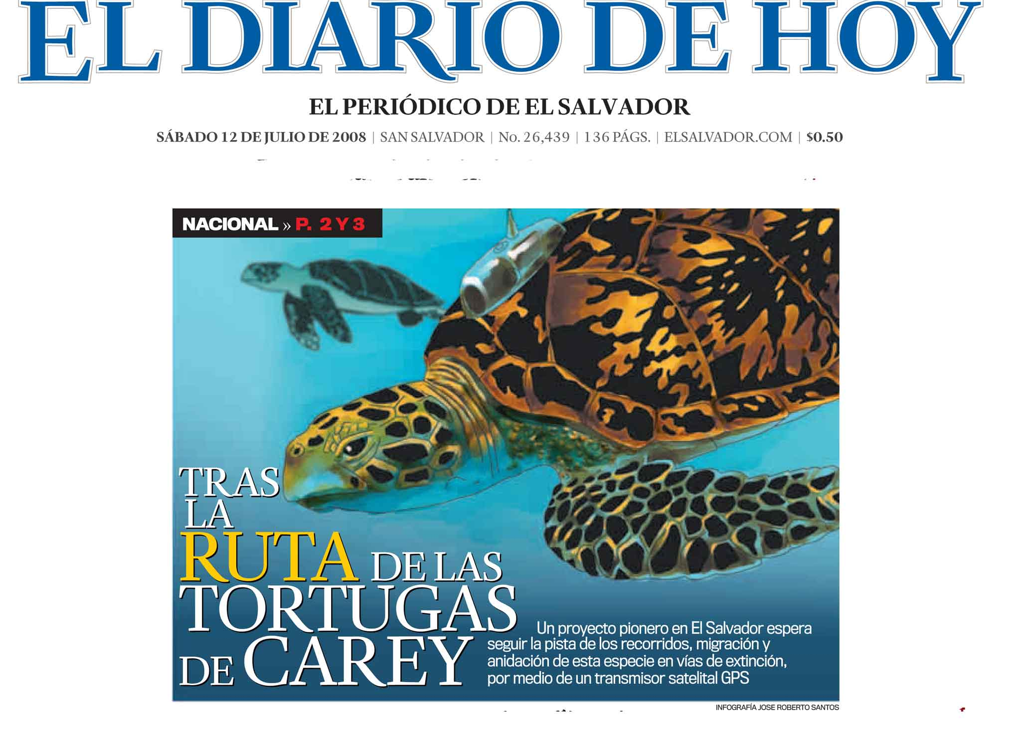 Following the route of the hawksbill turtle el salvador spanish el salvador tracking 2008page 1 freerunsca Image collections